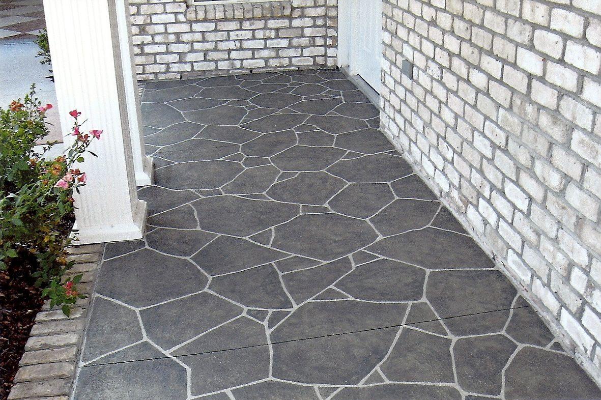 béton matricé - motif pierre iregulierre couleur gris