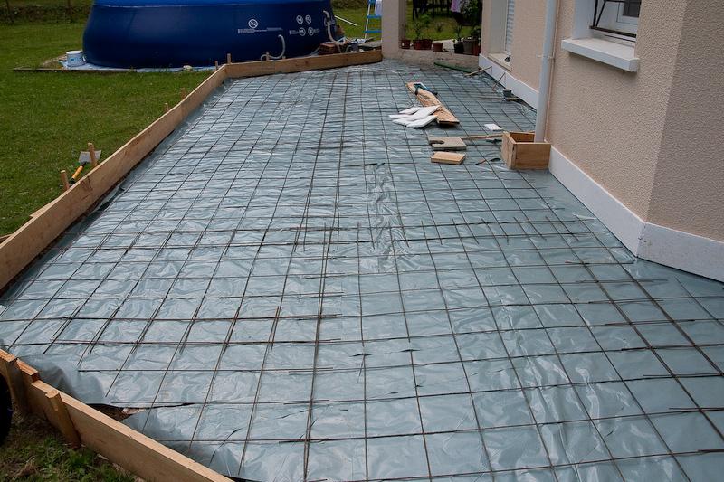 Préparation terrain pour couler la dalle en béton