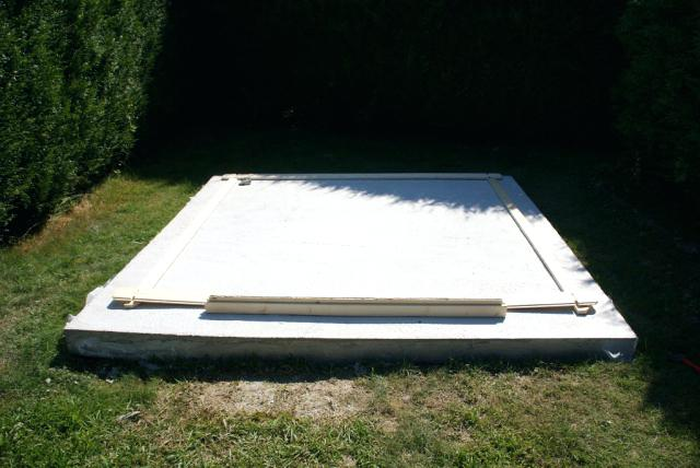 fondation béton pour un abri de jardin