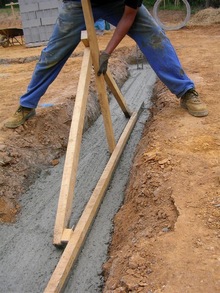 Coulage béton en fondation