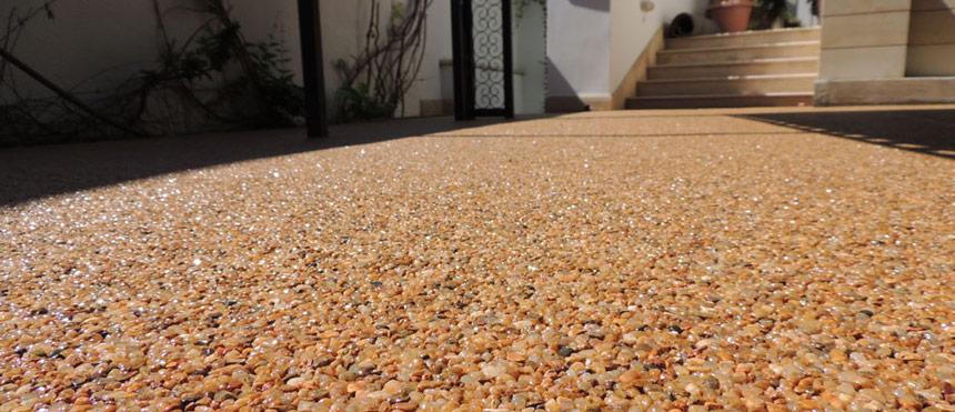 tapis de pierre (Moquette de pierres pour l'extérieur)