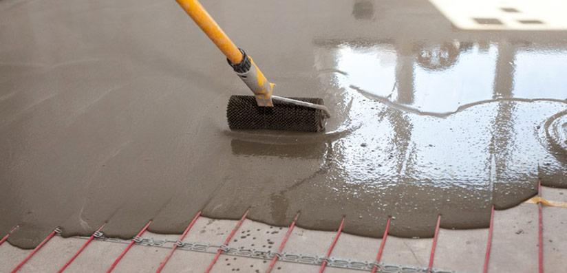 chape liquide flottante sur plancher chauffant