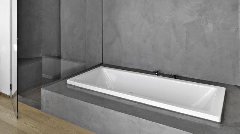 salle bain en beton mineral