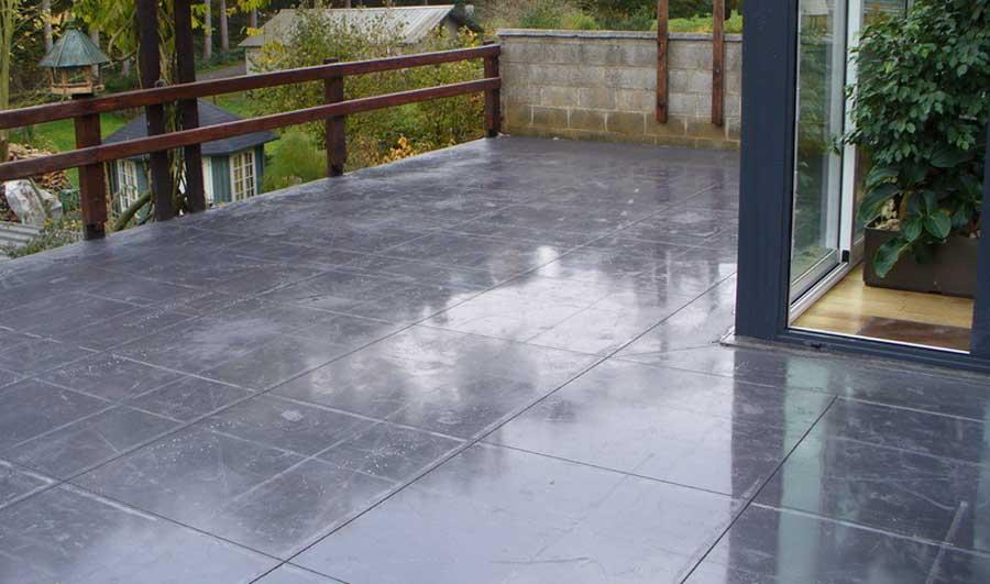 Terrasse béton lissé