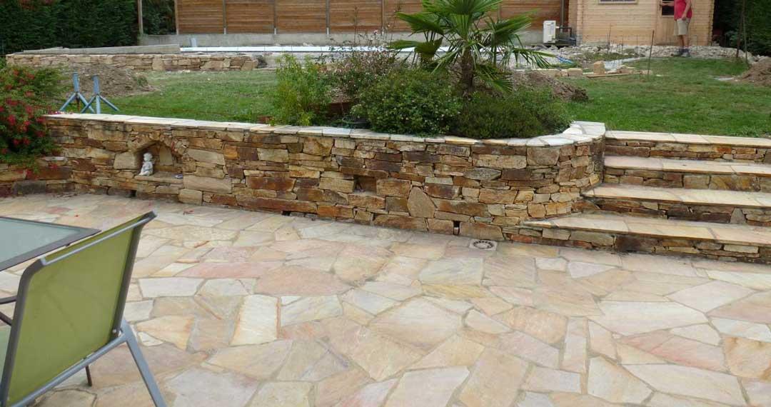 Terrasse en pierre naturelle: Prix, Types, Pose