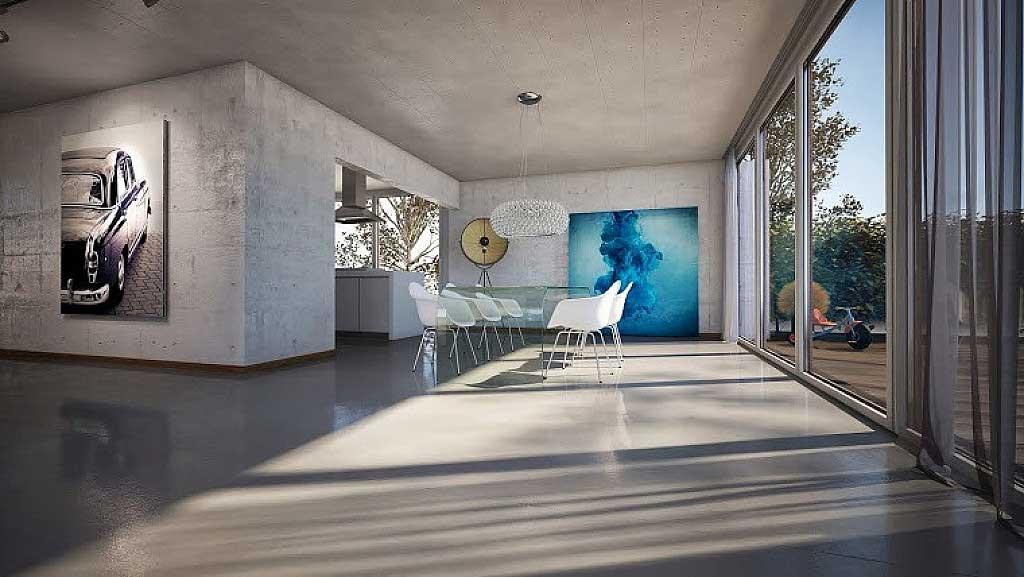 sol en beton pour la chambre